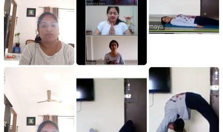 Principal Ma'am Ms. Bhavana Narsingoju address to Students.  Date: 21.06.2020